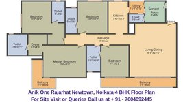 Anik One Rajarhat Newtown, Kolkata 4 BHK Floor Plan