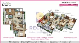 4 bhk floor plan fusion homes