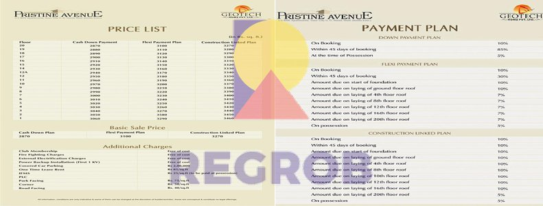 payment plan geotech pristine avenue