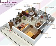matrix nirman florence 2bhk floor plan