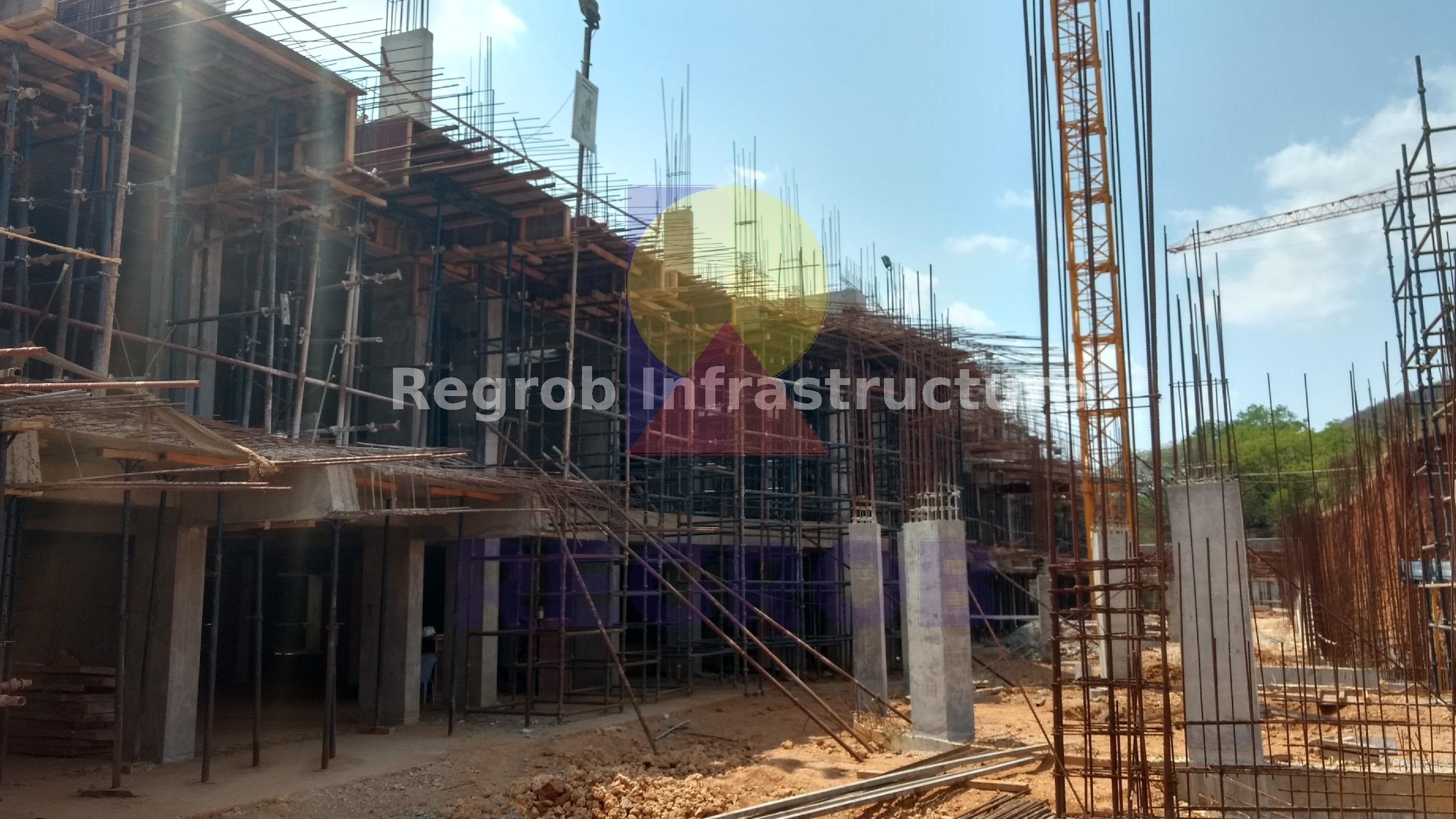 Actual Images of Ongoing Construction Manjeera Monarch