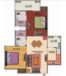 2 bhk floor plan
