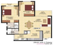 2 BHK SJR Fiesta Homes