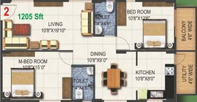 2 BHK Pioneer Kingstown