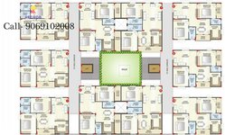 sri sai durga brundavanam 2bhk floor plan
