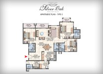 Prestige Silver Oak Floor Plan 4 BHK
