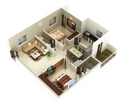 Jewel County Kesarapalli Vijayawada 2bhk Floor Plan