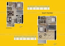 3 BHK East Facing
