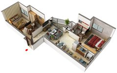 Floor plan of 2 BHK Apartments