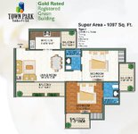 White Orchid Noida Extension 2BHK Floor Plan