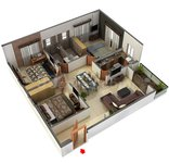 3 BHK Floor Plan signum Cloud 9