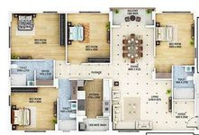 4 BHK Floor Plan Signum Cloud 9