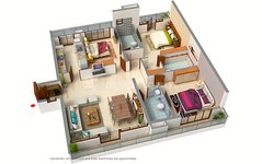 3 BHK Floor Plan of Signum Victoria Vistas
