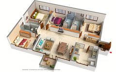 4 BHK Floor Plan of Signum Victoria Vistas
