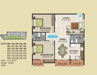 2 BHK Floor Plan of SLV Serenity
