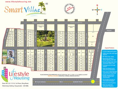 Lifestyle Smart Villaz Plots Vijayawada Master Plan