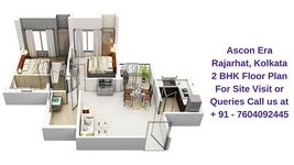 Ascon Era Rajarhat Kolkata 2 BHK Floor Plan