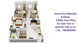 Ascon Era Rajarhat Kolkata 3 BHK Floor Plan