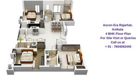 Ascon Era Rajarhat Kolkata 4 BHK Floor Plan