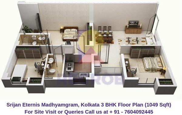 3 Bhk Flats For Sale In Srijan Eternis Regrob