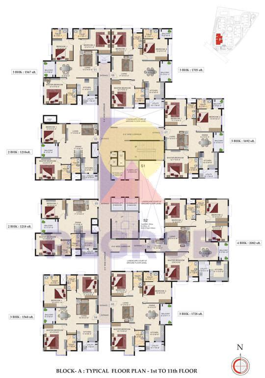 Mahindra Ashvita floor plans