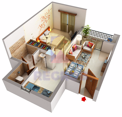 sjr parkway homes 1 BHK layout