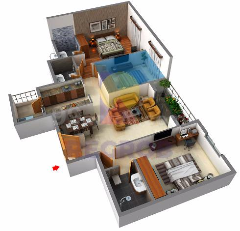 sjr parkway homes 3 BHK layout