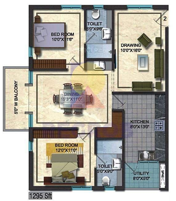 Theme Ambience Golf View floor plan
