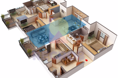 4 BHK layout