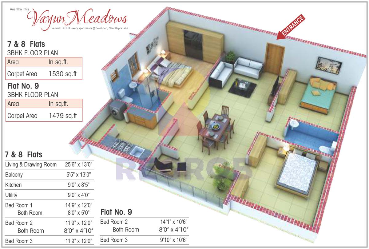 Anantha Vayun Meadows floor plan
