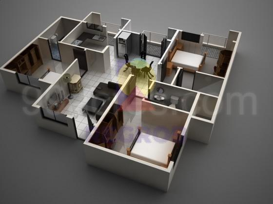 3 BHK layout
